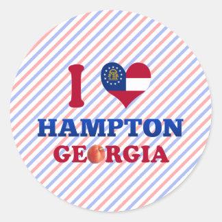 Amo Hampton, Georgia Pegatina Redonda