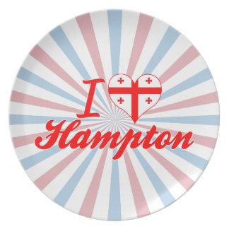 Amo Hampton, Georgia Plato De Cena