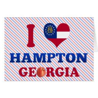 Amo Hampton, Georgia Tarjetón