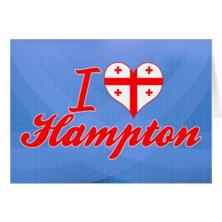 Amo Hampton, Georgia Tarjeta