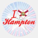 Amo Hampton, la Florida Pegatinas Redondas
