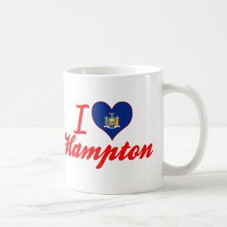Amo Hampton, Nueva York Taza De Café