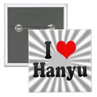 Amo Hanyu, Japón Pin Cuadrada 5 Cm
