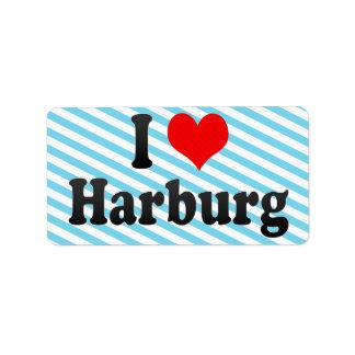 Amo Harburg, Alemania Etiqueta De Dirección