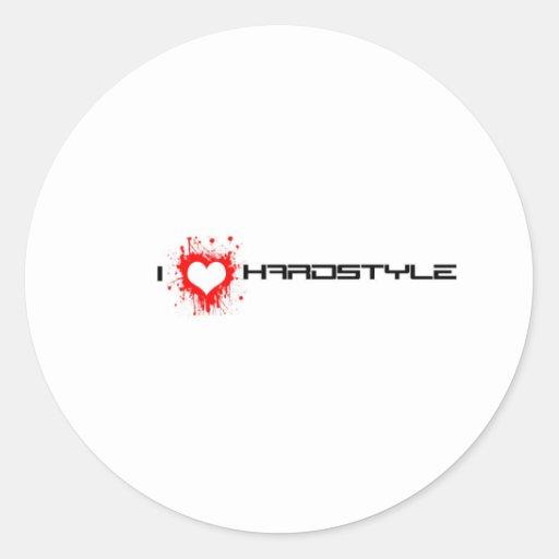 Amo Hardstyle Pegatina Redonda