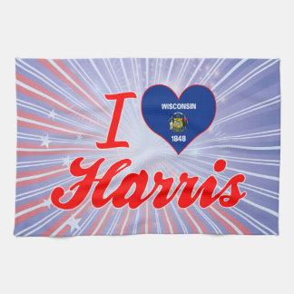 Amo Harris, Wisconsin Toallas De Mano