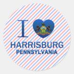 Amo Harrisburg, PA Etiqueta Redonda