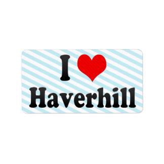 Amo Haverhill, Estados Unidos Etiquetas De Dirección