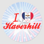 Amo Haverhill, Iowa Pegatinas Redondas