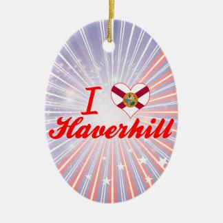 Amo Haverhill, la Florida Adorno Ovalado De Cerámica