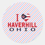 Amo Haverhill, Ohio Pegatinas Redondas