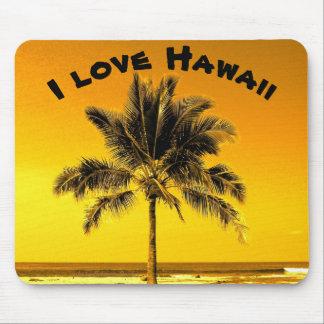Amo Hawaii Alfombrilla De Ratón