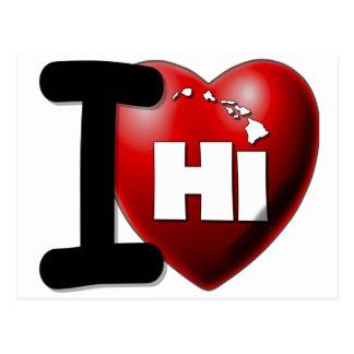Amo Hawaii - corazón Hawaii de I Postal