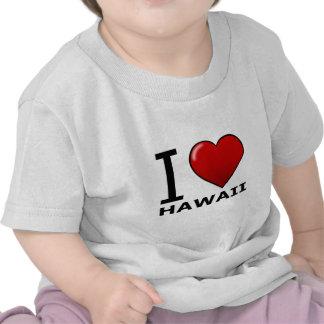 AMO HAWAII CAMISETAS