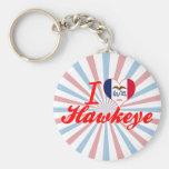 Amo Hawkeye, Iowa Llavero Personalizado