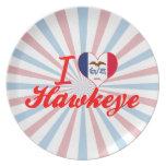 Amo Hawkeye, Iowa Platos Para Fiestas