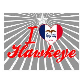 Amo Hawkeye, Iowa Tarjetas Postales
