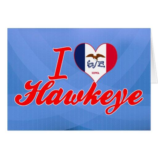 Amo Hawkeye, Iowa Tarjetón