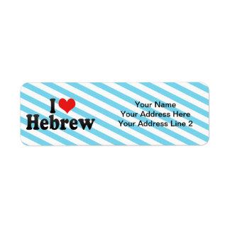 Amo hebreo etiqueta de remitente