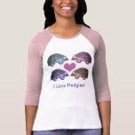 Amo Hedgies - camiseta de cuatro erizos
