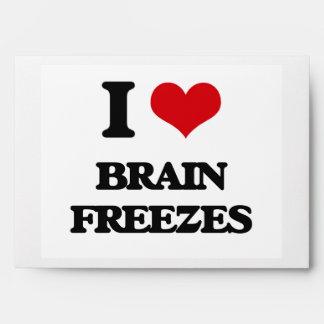 Amo heladas del cerebro sobres