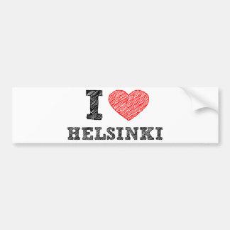 Amo Helsinki Etiqueta De Parachoque