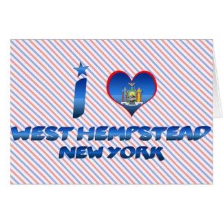 Amo Hempstead del oeste, Nueva York Felicitación