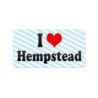 Amo Hempstead, Estados Unidos Etiquetas De Dirección