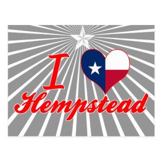 Amo Hempstead, Tejas Tarjeta Postal