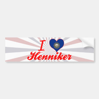 Amo Henniker, New Hampshire Pegatina Para Auto