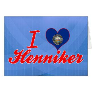 Amo Henniker, New Hampshire Tarjeta De Felicitación