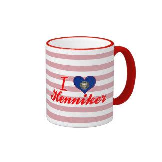 Amo Henniker, New Hampshire Taza A Dos Colores