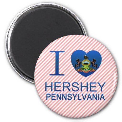 Amo Hershey, PA Imán De Nevera