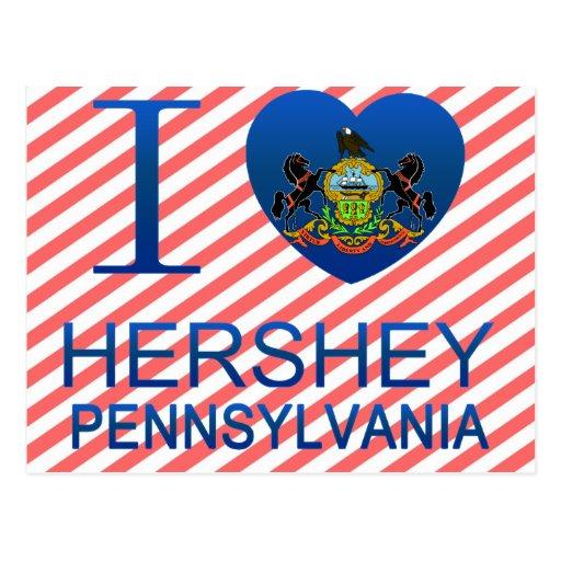 Amo Hershey, PA Tarjetas Postales