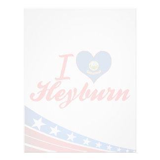 Amo Heyburn, Idaho Membrete A Diseño
