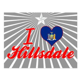 Amo Hillsdale, Nueva York Postales
