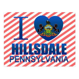 Amo Hillsdale, PA Tarjeta Postal