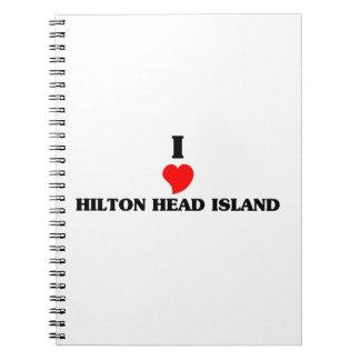 Amo Hilton Head Island Libros De Apuntes