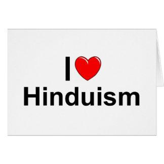 Amo Hinduism (del corazón) Tarjeta De Felicitación