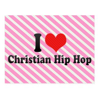 Amo Hip Hop cristiano Tarjetas Postales