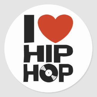 Amo Hip Hop Pegatina Redonda