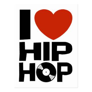 Amo Hip Hop Tarjeta Postal