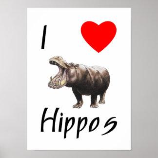 Amo hipopótamos 2 impresiones
