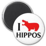 Amo hipopótamos imanes para frigoríficos