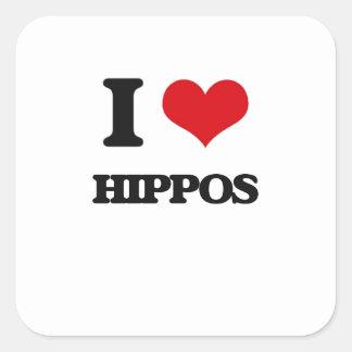 Amo hipopótamos colcomanias cuadradas