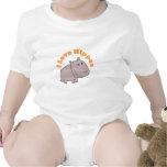 Amo hipopótamos trajes de bebé