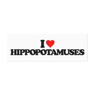 AMO HIPPOPOTAMUSES IMPRESION DE LIENZO