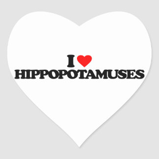 AMO HIPPOPOTAMUSES CALCOMANIA CORAZON