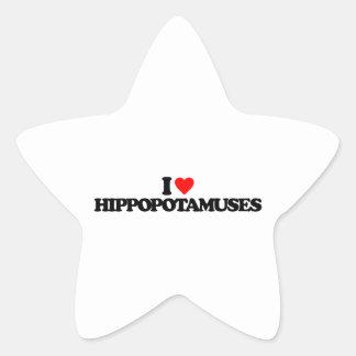 AMO HIPPOPOTAMUSES COLCOMANIAS FORMA DE ESTRELLA PERSONALIZADAS