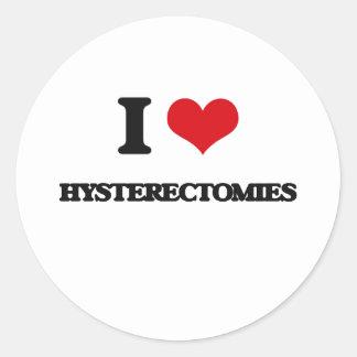 Amo histerectomias pegatina redonda